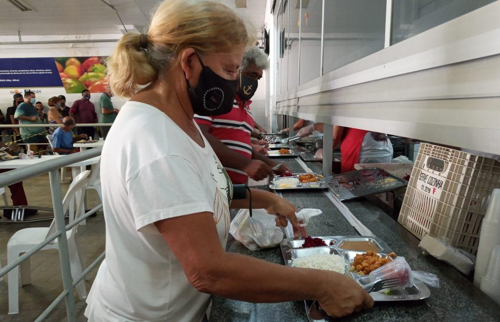 Usuários puderam consumir no salão do restaurante. Fotos Ludiany Oliveira/ Ascom BPB